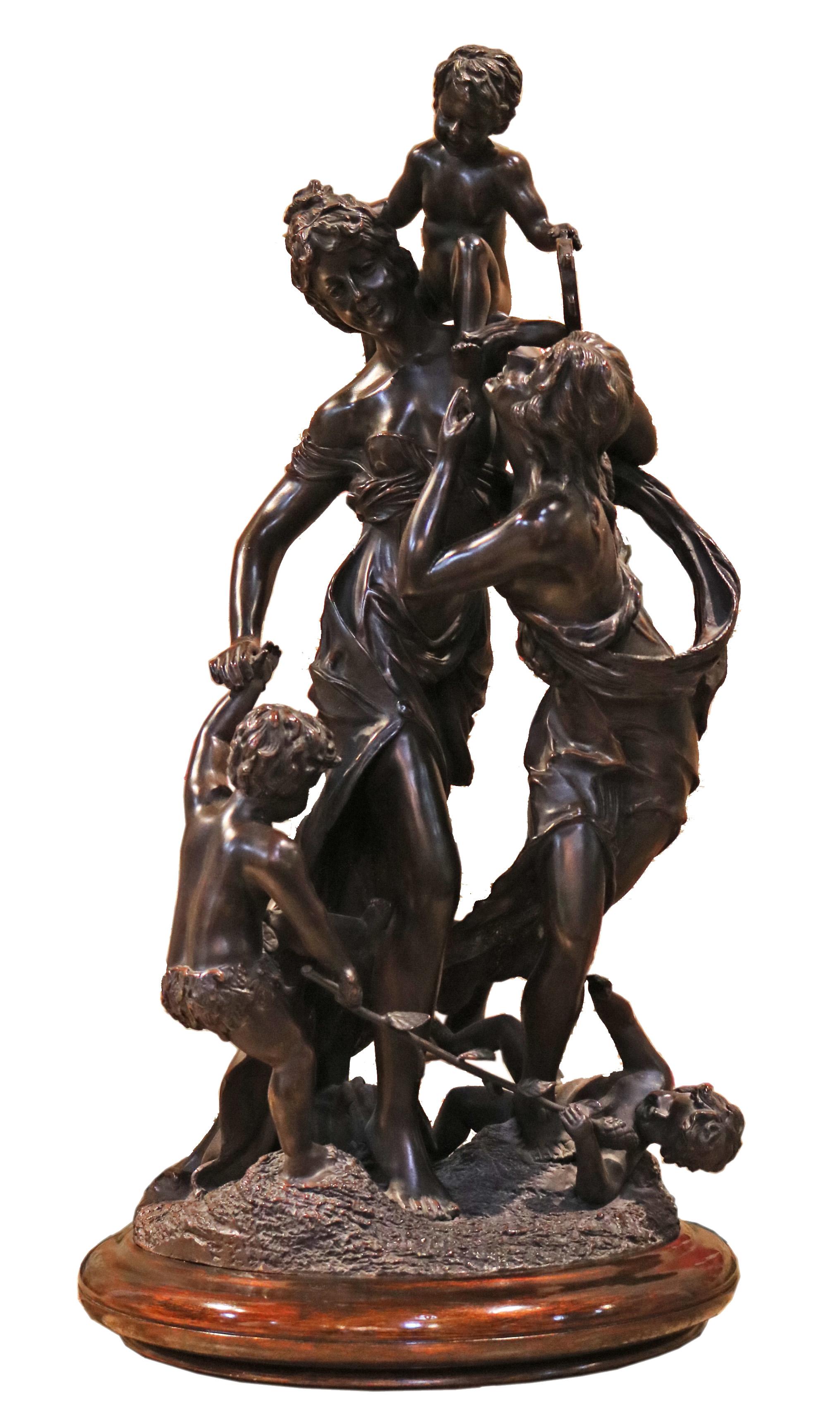 A Neoclassical 19th Century Bronze Sculpture No. 4770