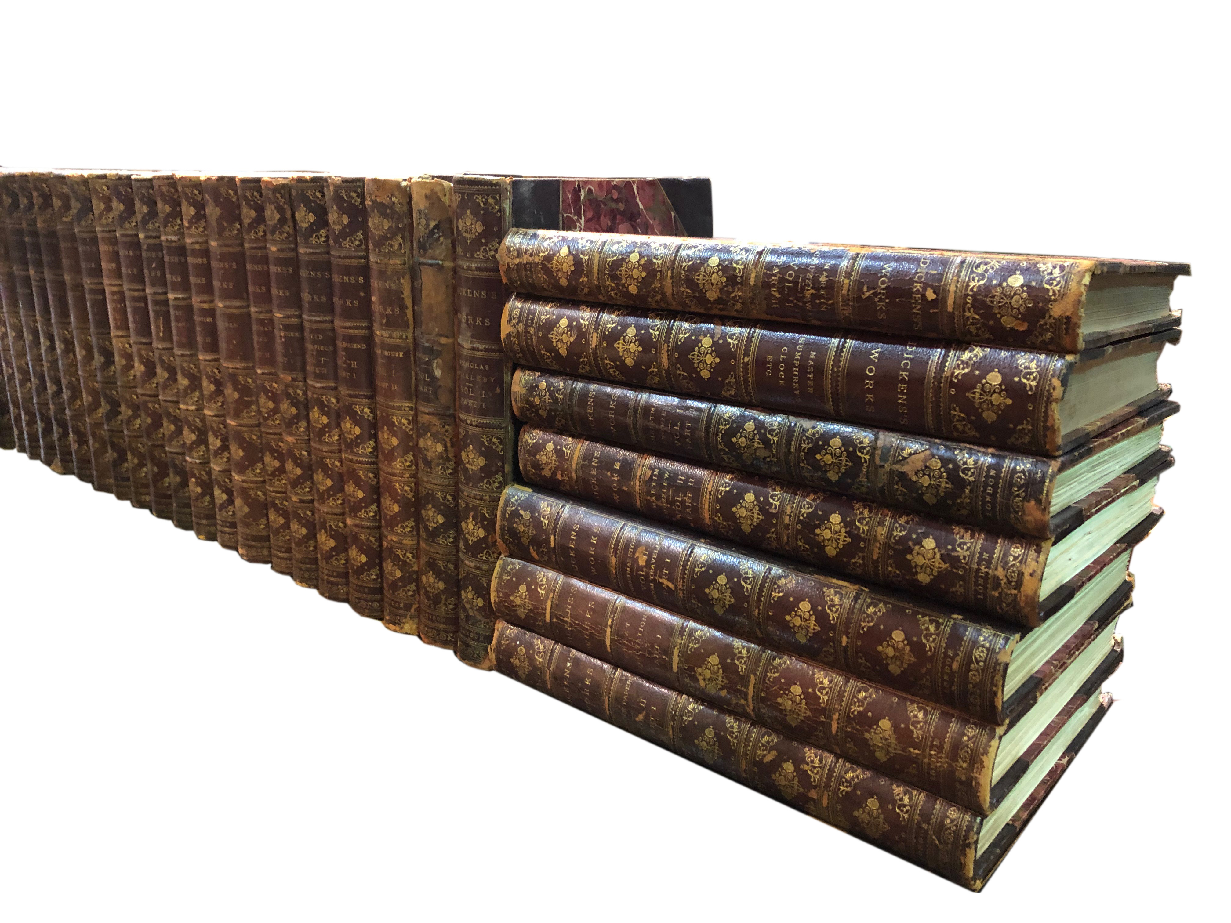 A 19th Century Collection of 60 Illustrated Volumes of Charles Dickens' Works no. 4785