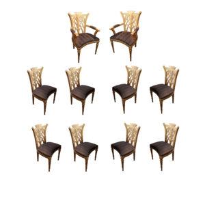 A Set of Ten Gilded Venetian Chairs No.4802