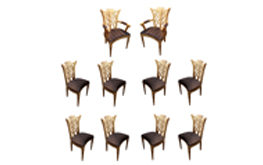 A Set of Ten Gilded Venetian Chairs No.4802