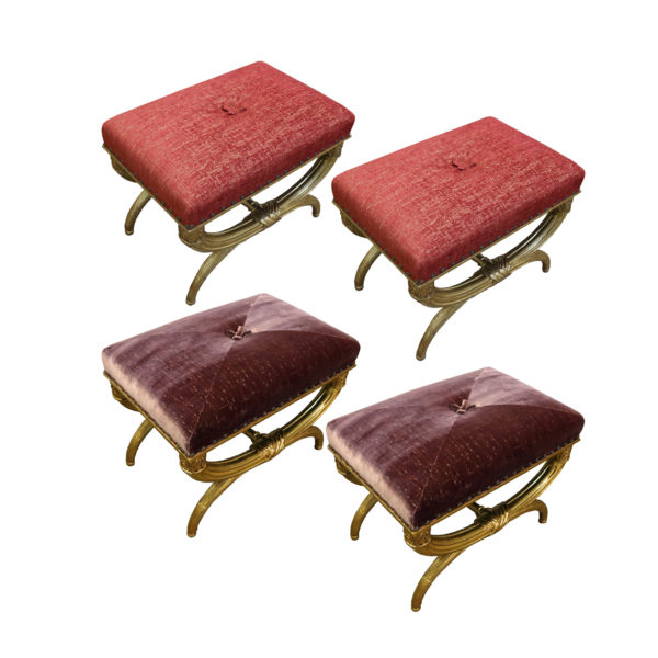 A Set of Four Louis XVI Gilded Upholstered Benches No.4804