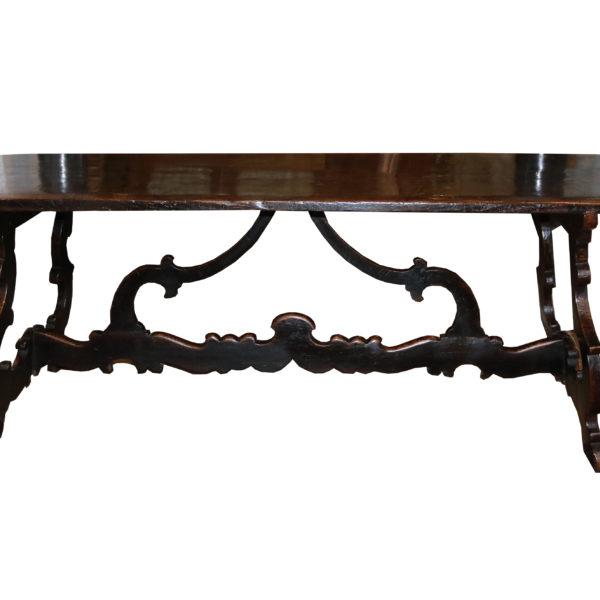 An 18th Century Walnut Tuscan Trestle Table No. 4824
