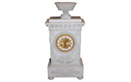 A Very Fine French Empire Alabaster Mantel Clock No. 4819