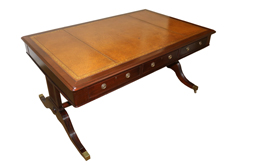 An English Regency Mahogany Partner's Desk No. 4827