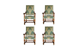 An Important Set of Four Louis XIII Arm Chairs No. 2237
