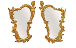 A Pair of 19th Century Italian Gilded Putti Mirrors No. 4842