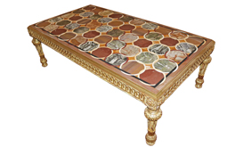 An Elegant Late 19th Century Italian Marble Inlayed Specimen Coffee Table No. 4843